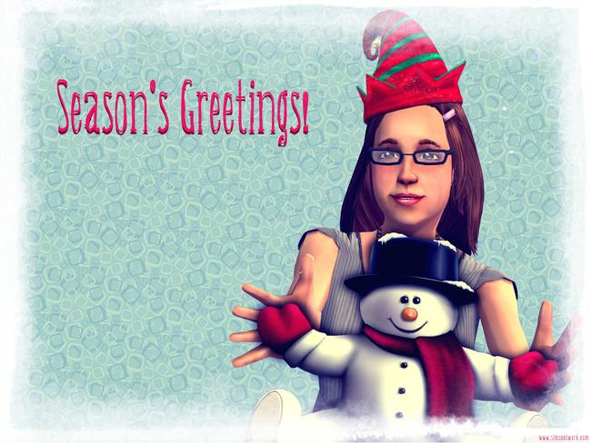 Season's Greetings Merry Christmas happy holidays wallpaper xmas 2011