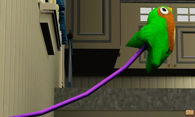The Sims 3 Pets: Desperate bird toy