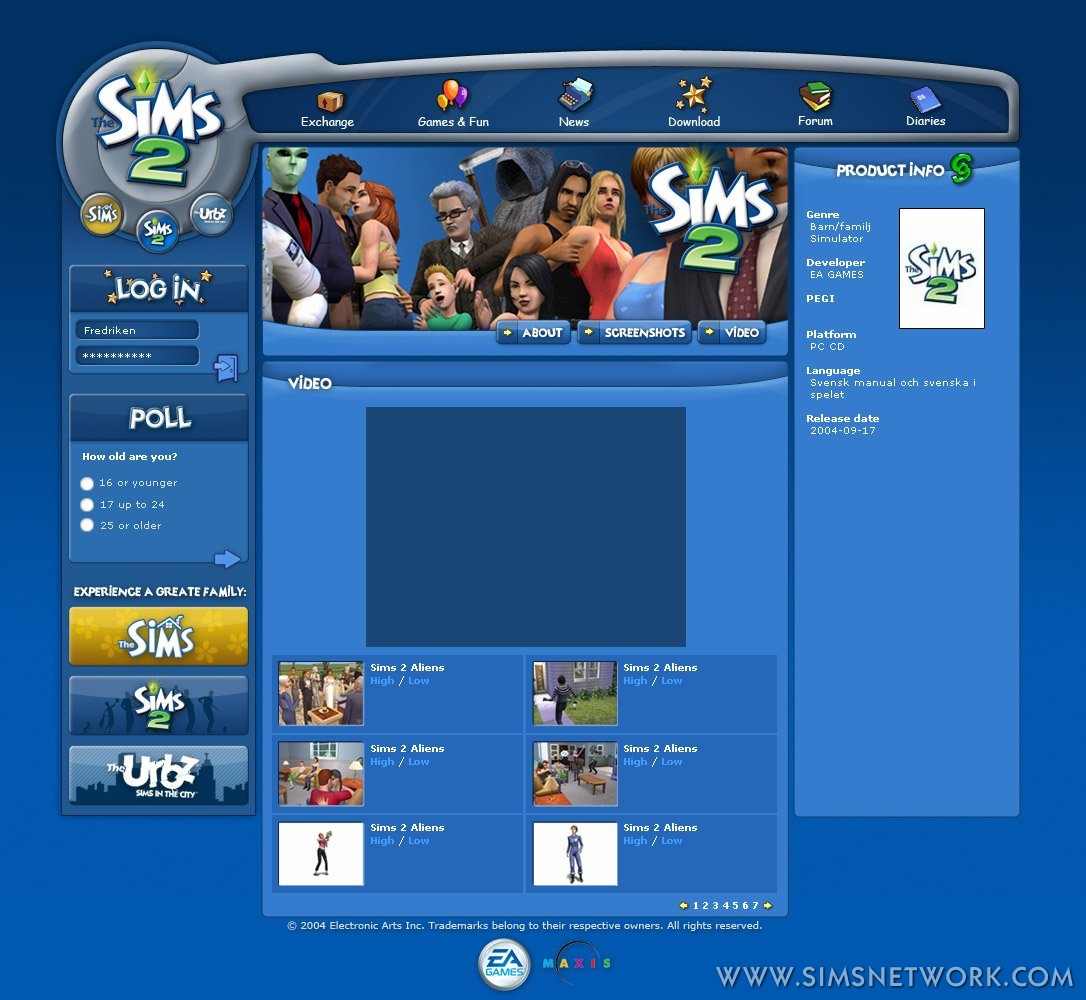 New official website! | SNW | SimsNetwork com