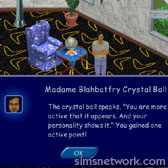 The Sims Livin' Large Comic Strip - The Crystal Ball