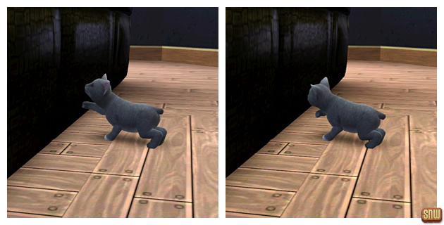 The Sims 3 Pets: Oopsie-Daisy the cat and the sofa