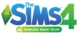 The Sims 4: Bowling Night Stuff logo