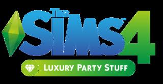 The Sims 4: Luxury Party Stuff logo