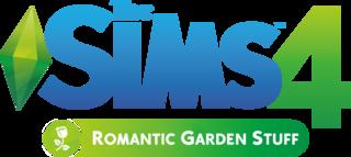 The Sims 4: Romantic Garden Stuff logo