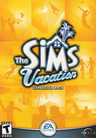 The Sims: Vacation box art packshot