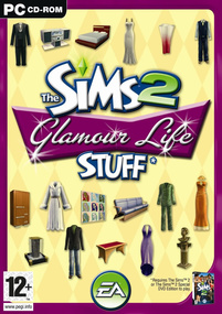 The Sims 2: Glamour Life Stuff box art packshot