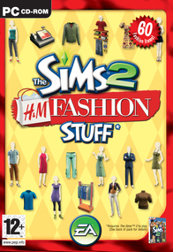 The Sims 2: H&M Fashion Stuff box art packshot