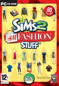 The Sims 2: H&M Fashion Stuff box art packshot