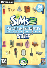 The Sims 2: Kitchen & Bath Interior Design Stuff box art packshot