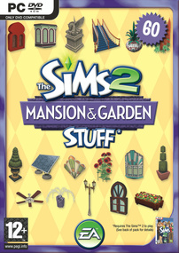 The Sims 2: Mansion & Garden Stuff box art packshot