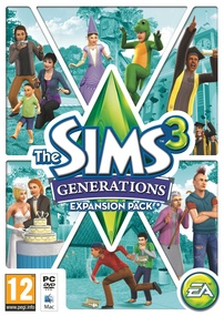 The Sims 3: Generations box art packshot