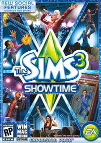 The Sims 3: Showtime box art packshot