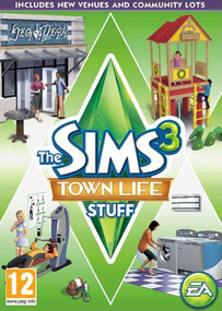 The Sims 3: Town Life Stuff box art packshot