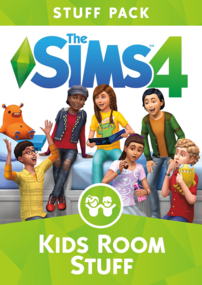 The Sims 4: Kids Room Stuff box art packshot