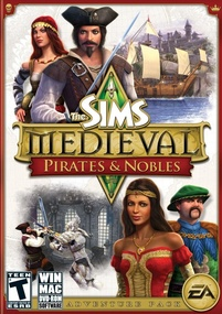 The Sims Medieval: Pirates & Nobles box art packshot