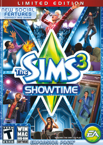 The Sims 3: Showtime (Limited Edition) packshot box art