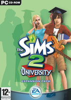 The Sims 2: University box art packshot