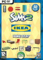 The Sims 2: IKEA Home Stuff box art packshot