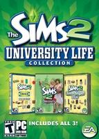 The Sims 2: University Life Collection box art packshot US