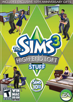 The Sims 3: High-End Loft Stuff box art packshot US