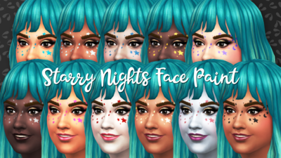 Starry Night Celestial Face Paint
