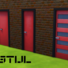 De Stijl Doors for The Sims 4