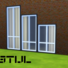 De Stijl Windows for The Sims 4