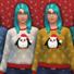 Women's Christmas Penguin Sweater