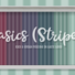 Basics Stripes Wallpaper with Kick and Crown Molding in White Wood