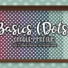 Basics Medium Opaque Dots Wallpaper with Kick and Crown Moulding in Medium Wood