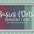 Basics Small Translucent Dots Wallpaper in White Wood