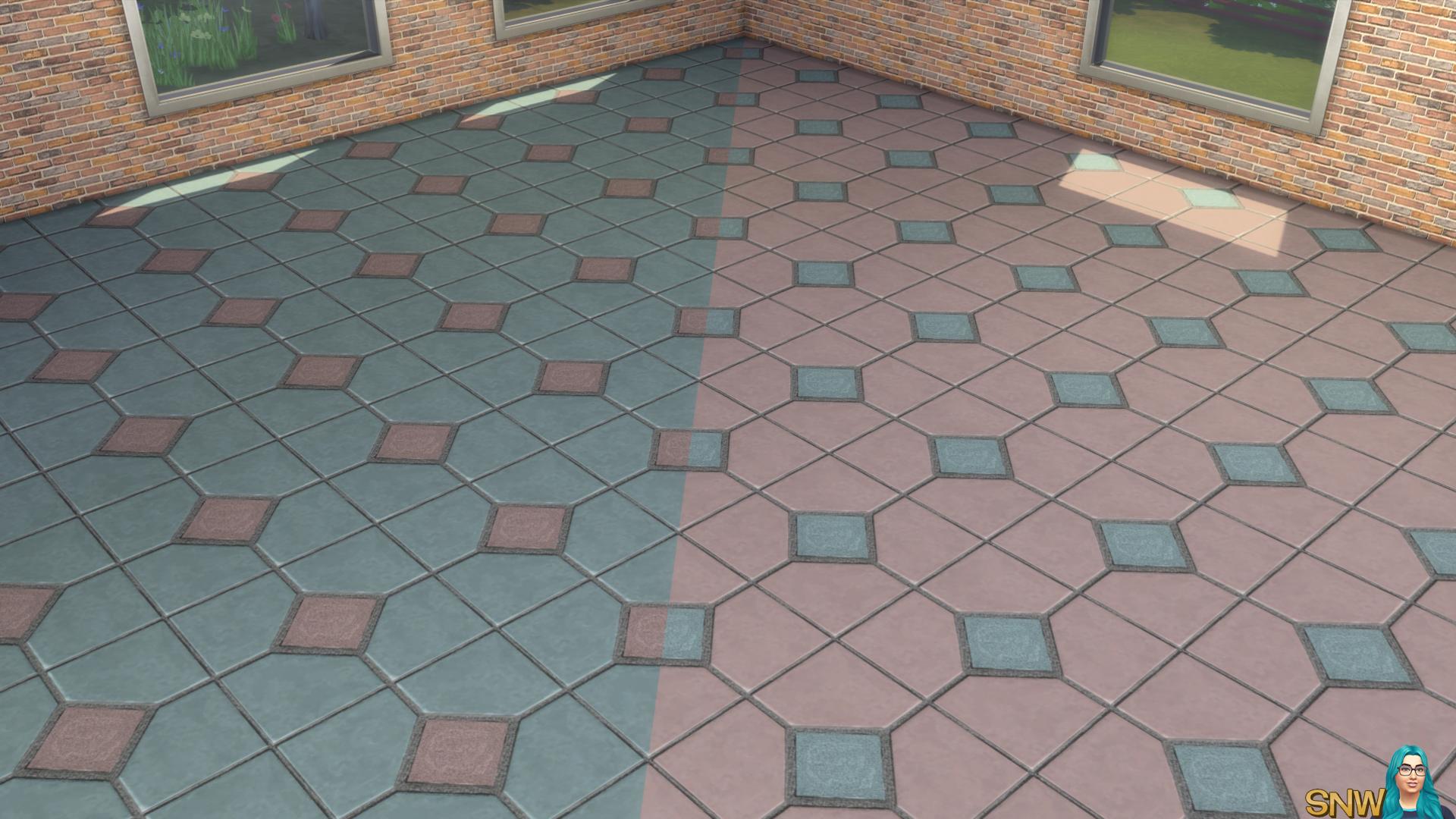 Il Perrinni Italianate Tile (95 Colour Options!) | SNW | SimsNetwork.com