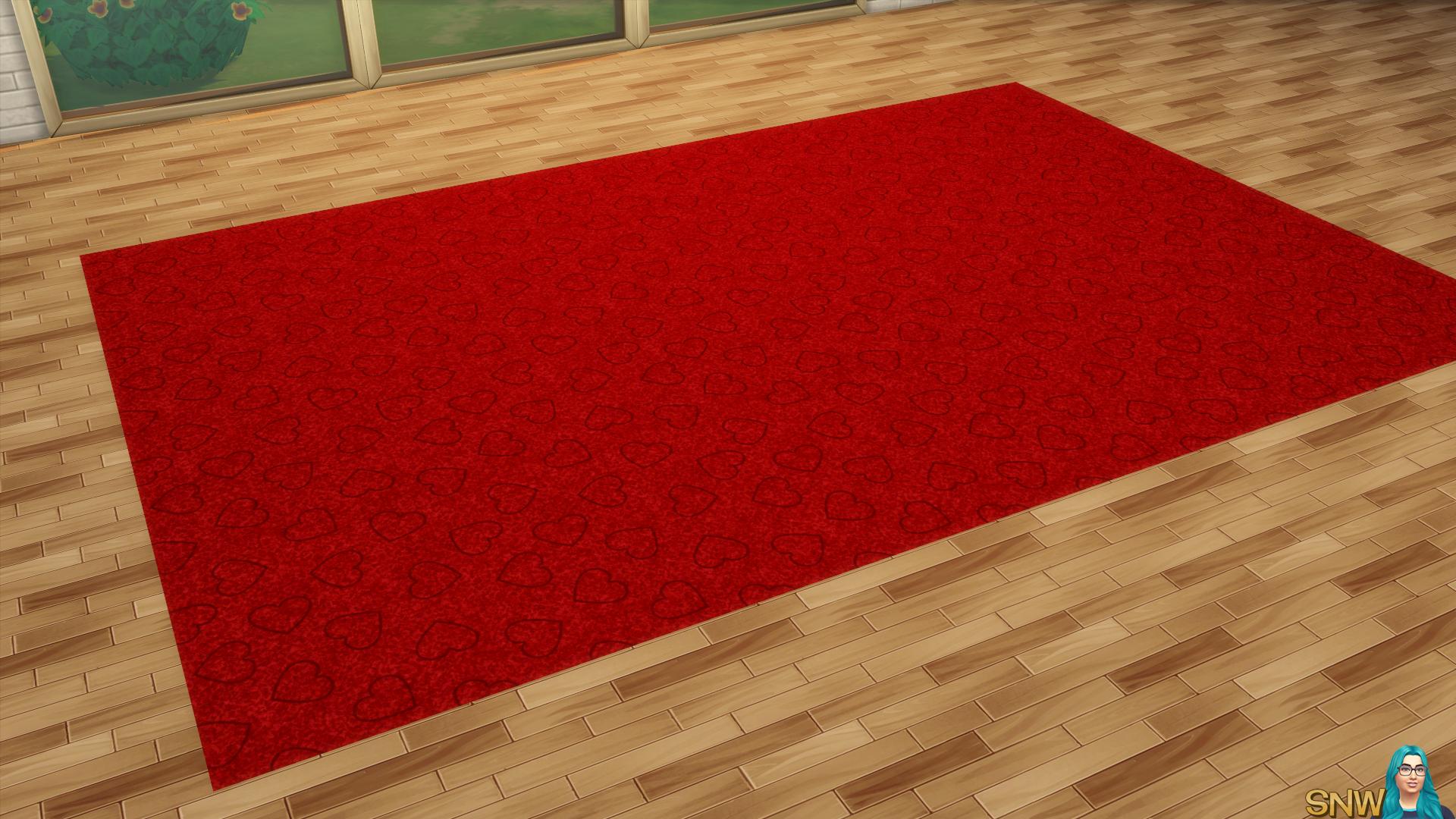 Valentine's Day 2018 / Love Carpets #9 (Hearts - Outline - Small - Dark)