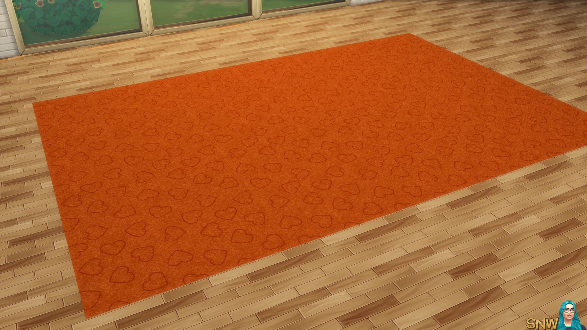 Valentine's Day 2018 / Love Carpets #9 (Hearts - Outline - Small - Dark)