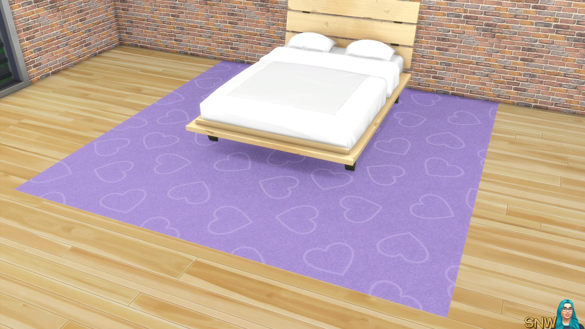 Valentine's Day 2018 / Love Carpets #3 (Hearts - Outline - Large - Light)