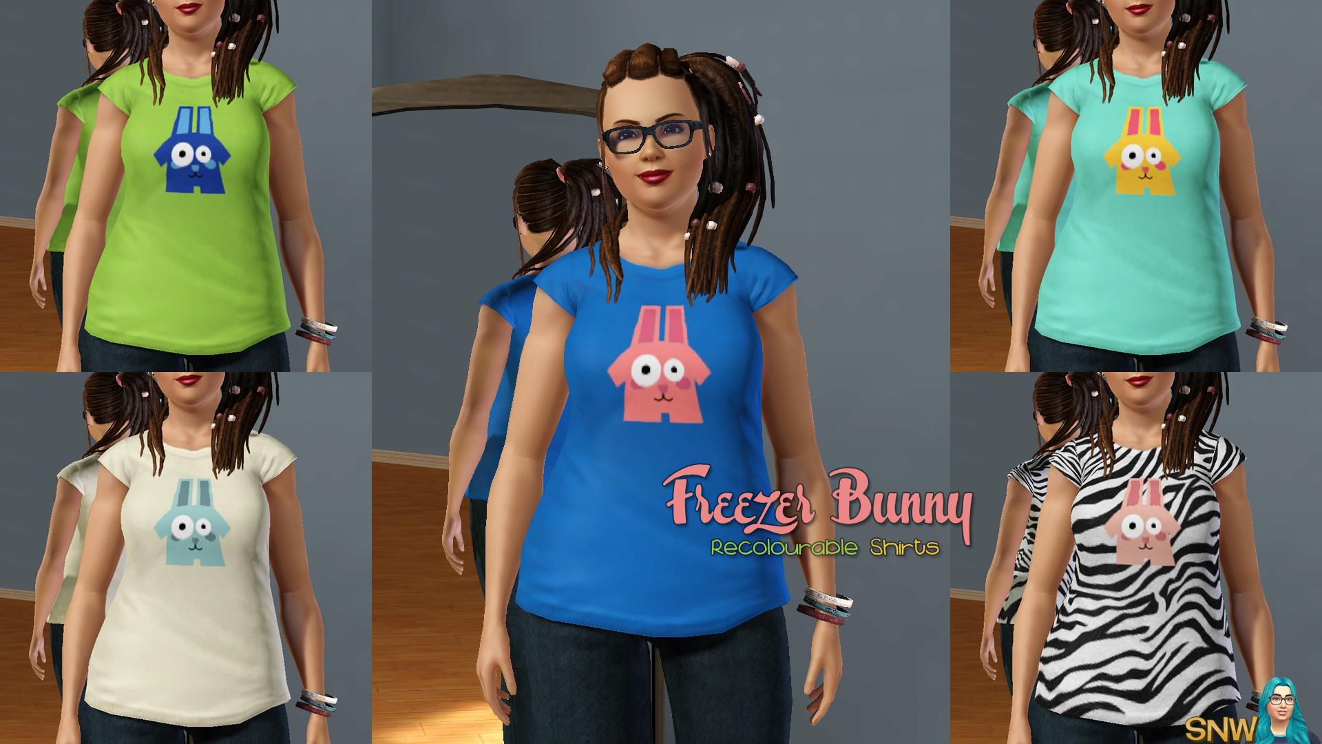 Recolourable Freezer Bunny Shirts