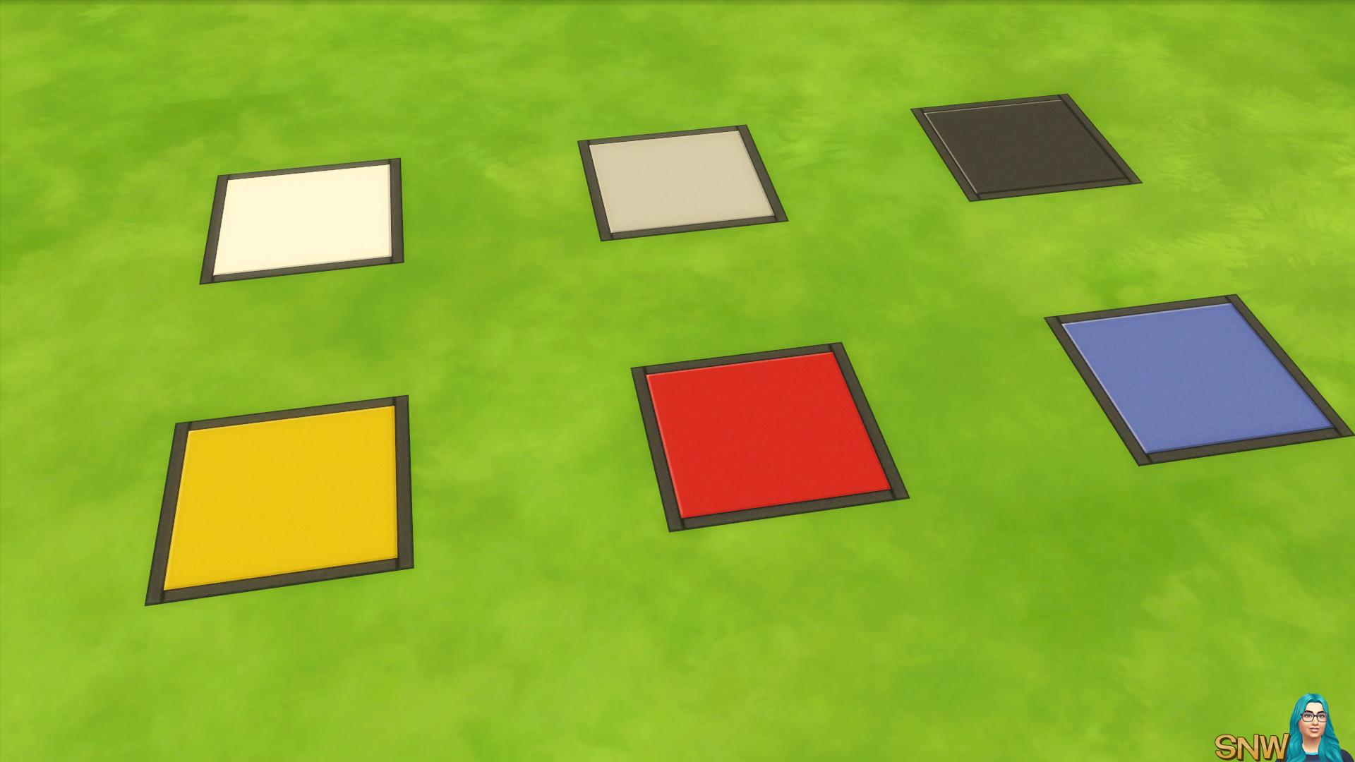De Stijl Floor Tiles 3 Snw Simsnetwork Com