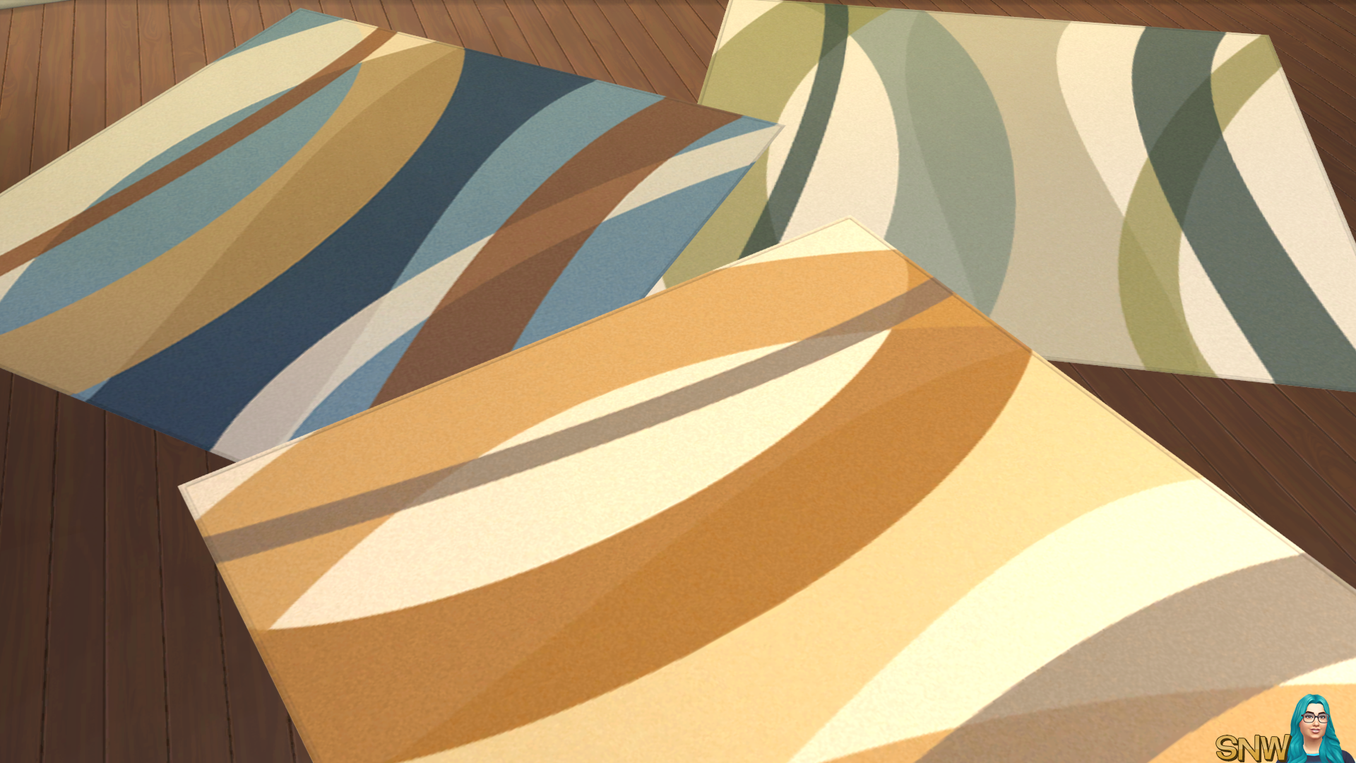 Abstract Rugs for The Sims 4