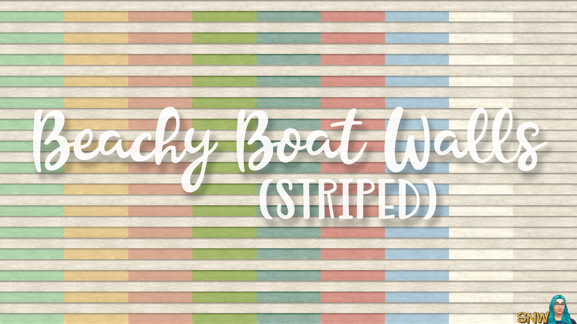 SNW Beachy Boat Striped Siding Walls