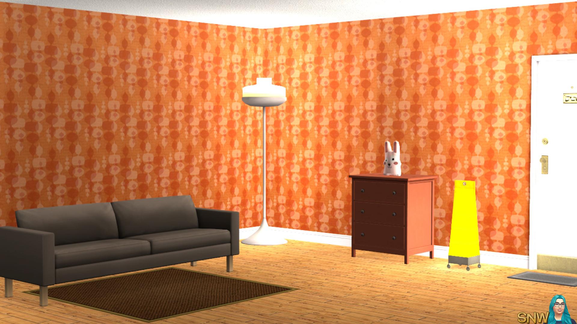 Mod wallpaper orange & red