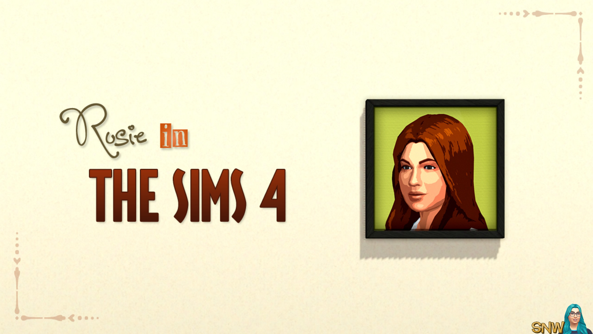 Rosie in The Sims 4 painting