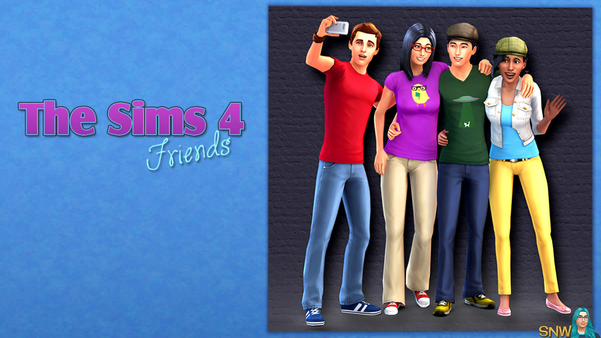 The Sims 4 Friends Poster