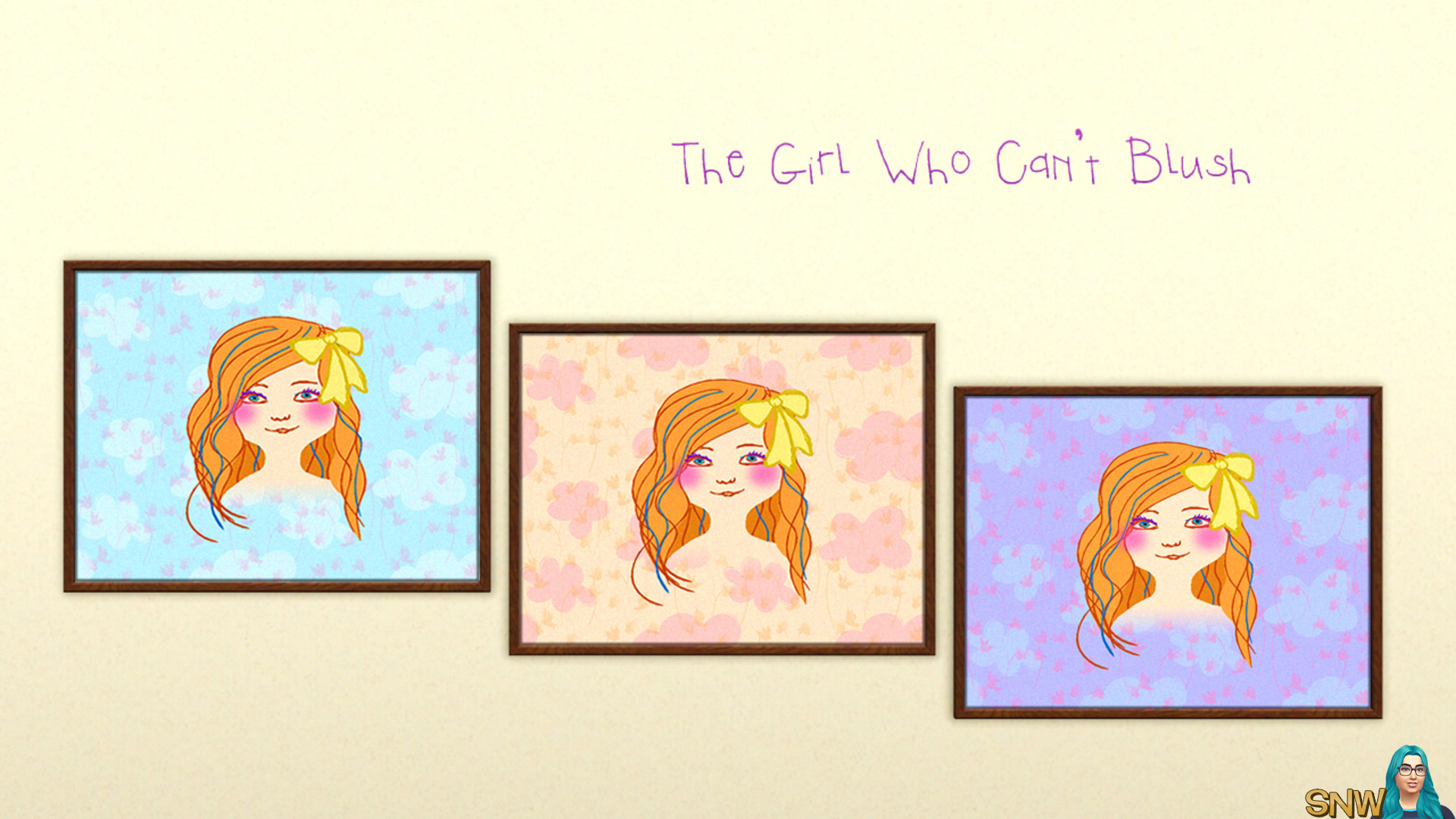 The Girl Who Can't Blush painting