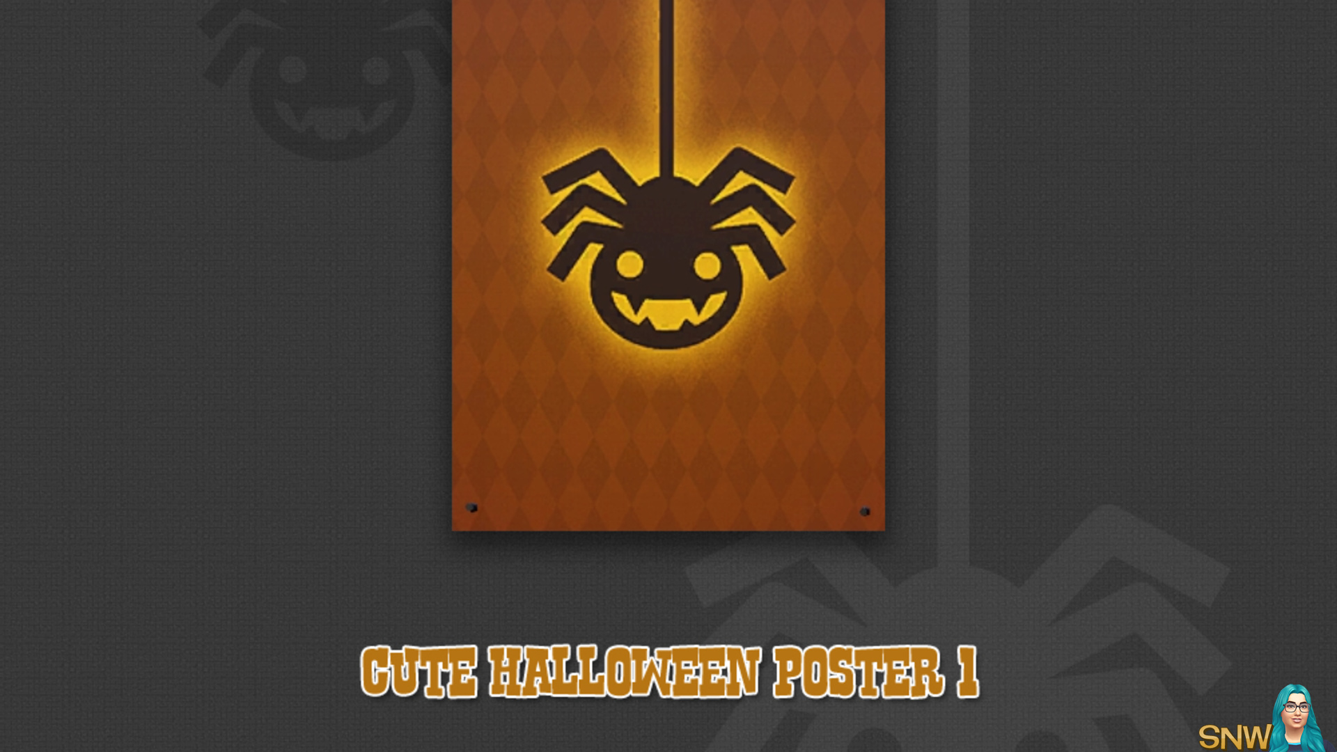Cute Halloween poster #1 (Spidey)