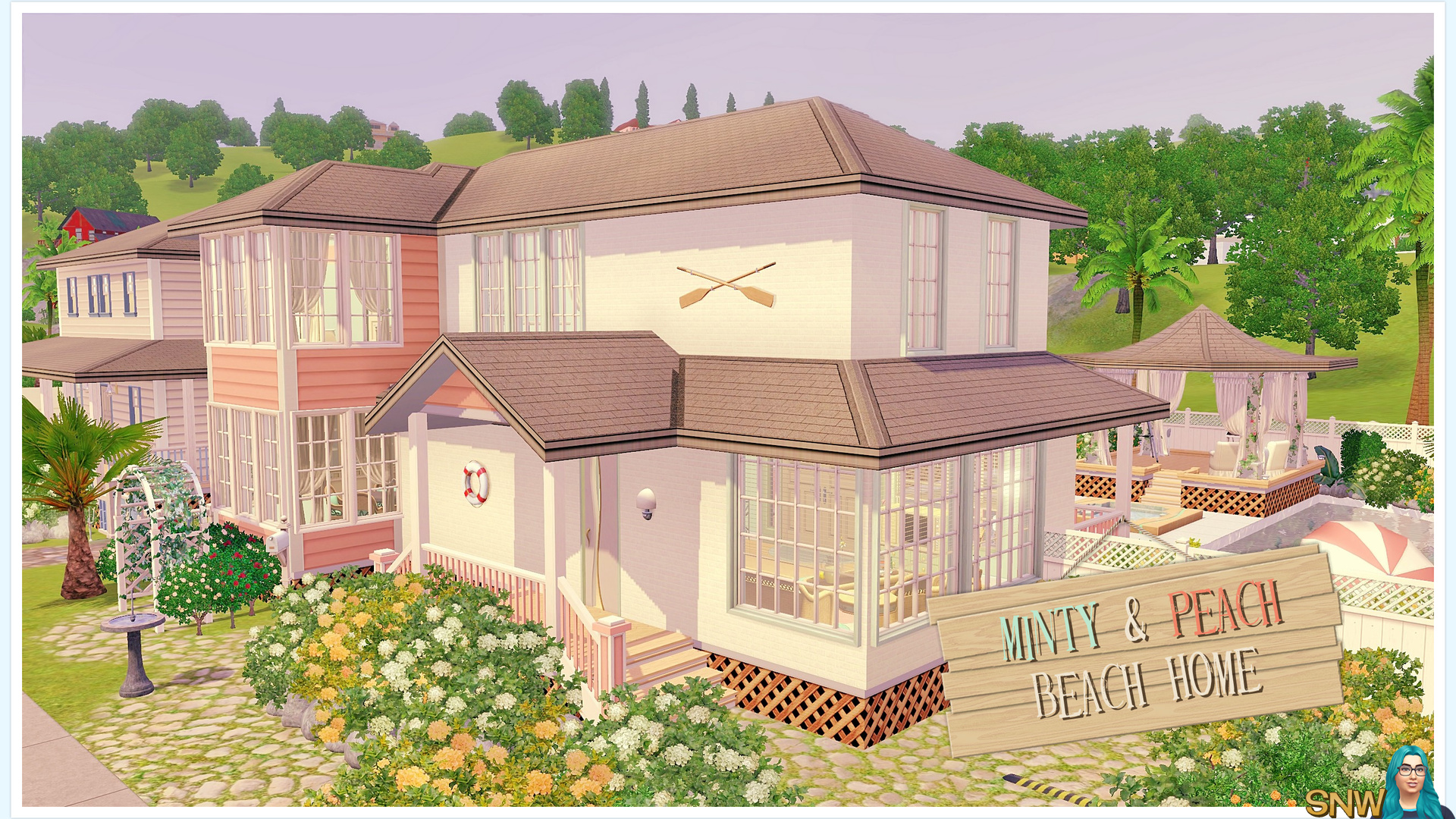 Minty peach beach house snw for Beach house 3 free download