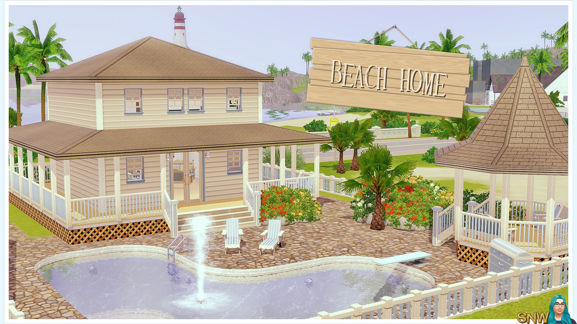 Beach house snw for Beach house plans sims 3