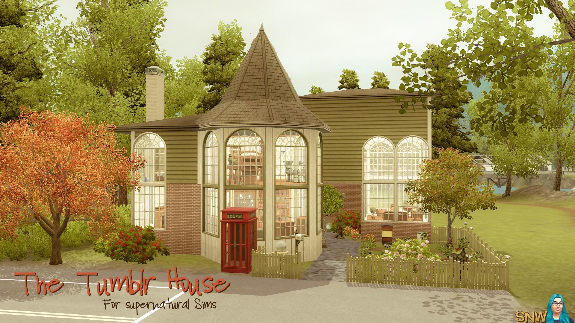 Sims 3 Modern House Tumblr on Modern House On Hillside