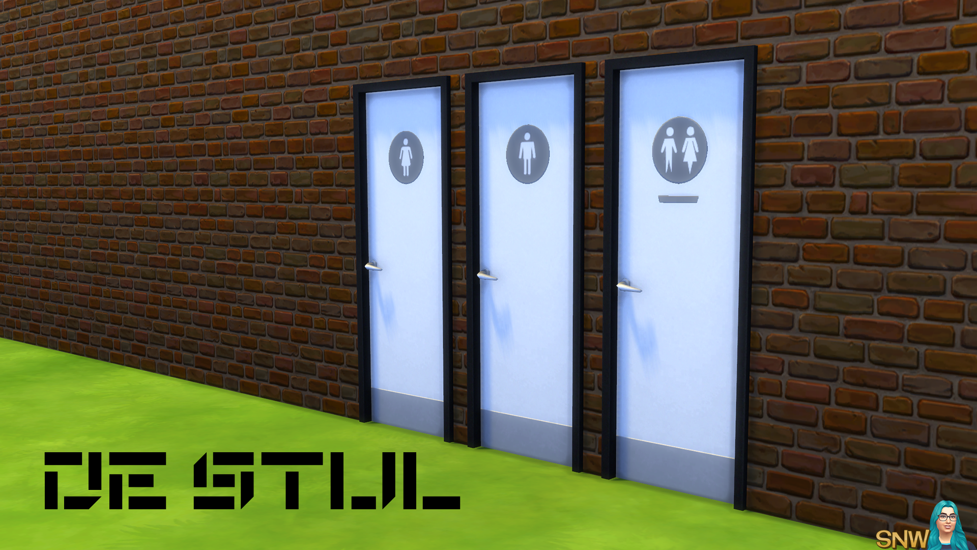 De Stijl Doors for The Sims 4