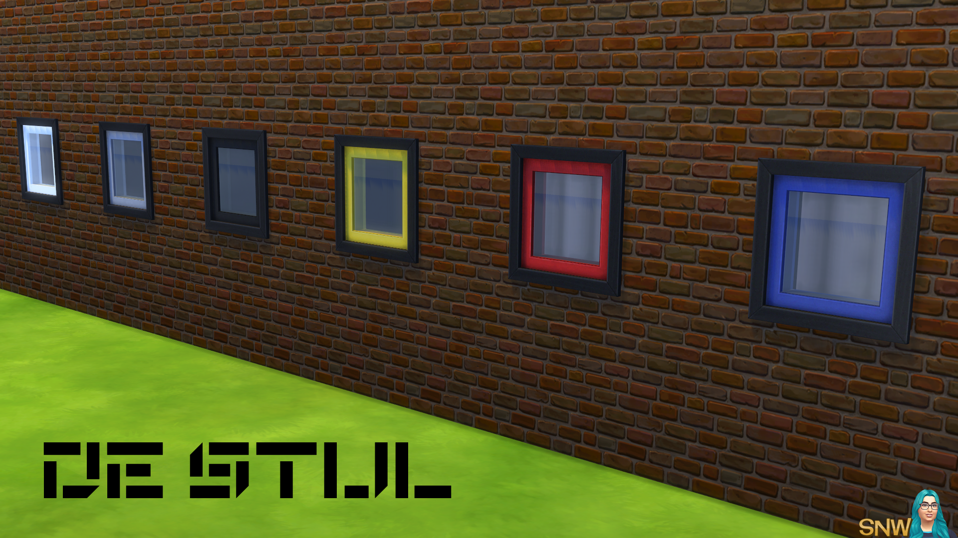 De Stijl Square Window 6 Snw Simsnetwork Com