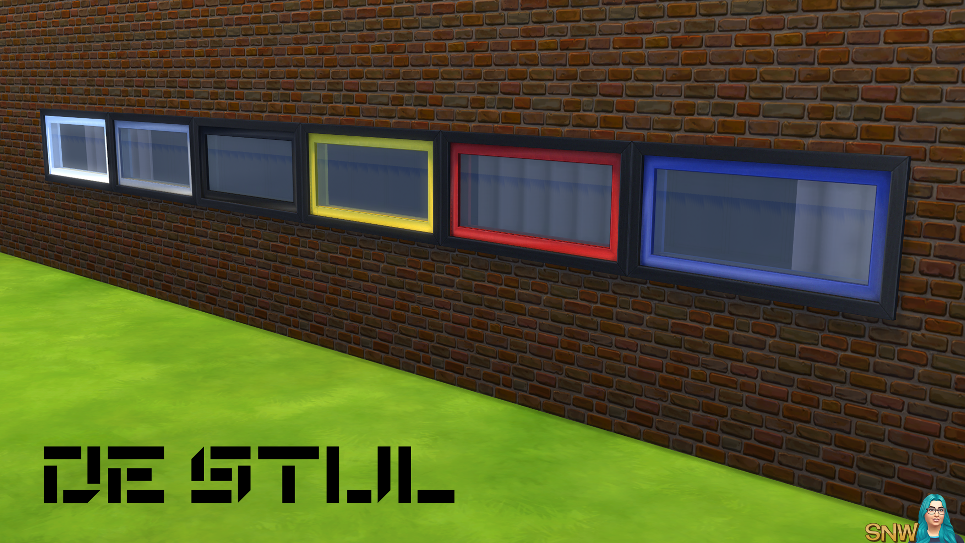 De Stijl Wide Window 8 Snw Simsnetwork Com